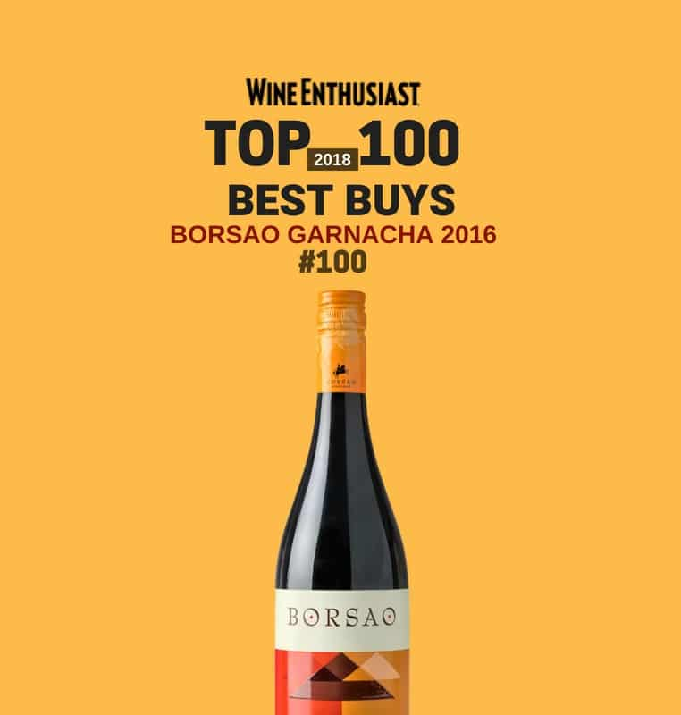 Wine Enthusiast Top 100 for Borsao Garnacha